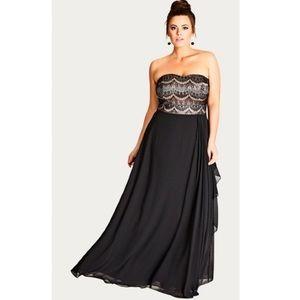 NEW City Chic Eyelash Ebony Maxi Dress